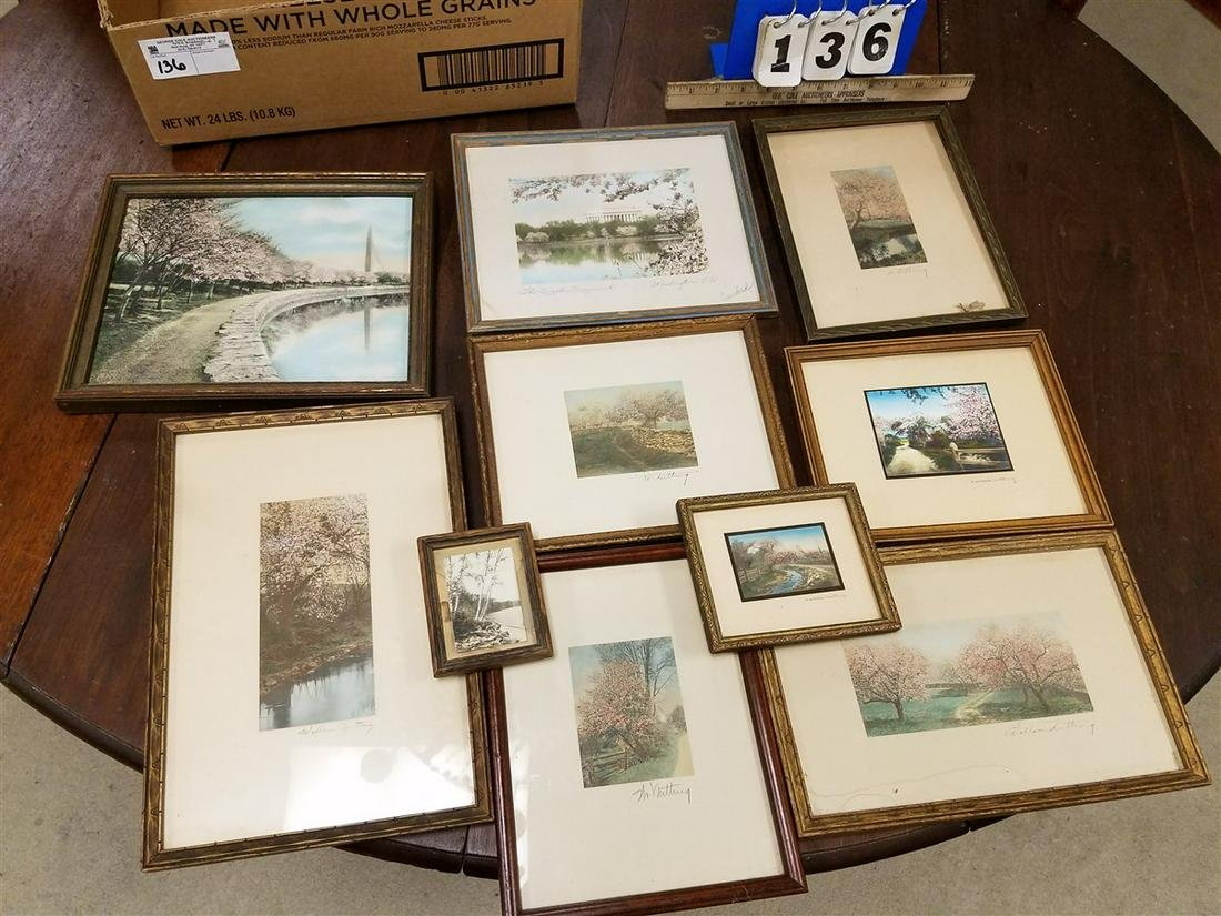BX. 8 SGND. WALLACE NUTTING FRAMED ITEMS, + CARLOCK THE
