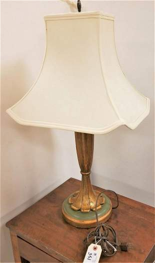 POLYCHROMED WOODEN TABLE LAMP
