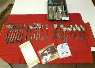 2 SETS 27PC SILVERPLATE FLATWARE PLYMOUTH ROGERS