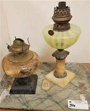 TRAY VICT OIL LAMPS