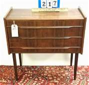 """MID CENTURY ROSEWOOD 3 DRAWER STAND, 24""""H X 24""""W X 12""""D"""