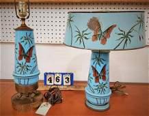 PR. BRISTOL GLASS LAMPS