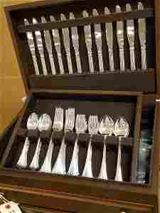 """BOXED SET OF 62PC. REED & BARTON """"ENGLISH CHIPPENDALE"""""""