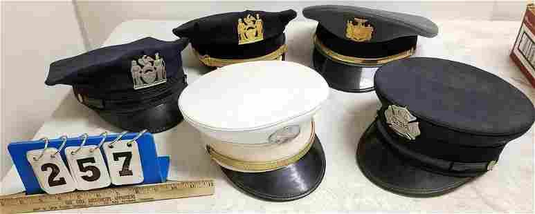 5 POLICE FD HATS