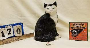 VINTAGE CAST IRON CAT DOORSTOP 9H