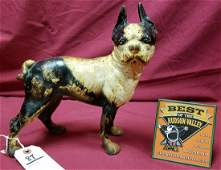 HUBLEY BOSTON TERRIER CAST IRON DOOR STOP 95