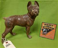 HUBLEY BOSTON TERRIER CAST IRON DOOR STOP 10