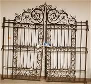 """WROUGHT GATES. 8'9""""H x 8'10""""W"""