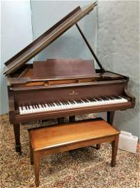 STEINWAY 1929 MODEL M GRAND PIANO W/ PLAYER INSERT AND