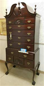 "c.1900 CHIPPENDALE STYLE HIGHBOY, 7'3""H X 41""W X 22""D"