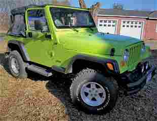 2001 JEEP WRANGLER WITH LOTS OF AFTERMARKET EXTRAS