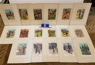 BOX 17 MATTED PRINTS-THE AMERICAN SOLDIER, 1781-1963,