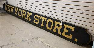 """TRADE SIGN, """"NEW YORK STORE"""", 16'L X 17""""H"""