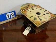 WAG ON WALL CLOCK W/ WOODEN WORKS + PTD. WOODEN FACE