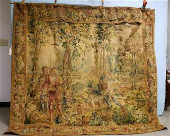 """LATE 17th c-EARLY 18th c.TAPESTRY, 6' X 6'10"""""""