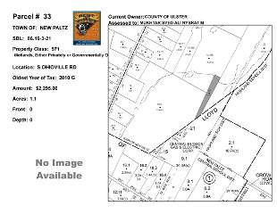 Town of Paltz - SBL: 86.16-3-21 - S Ohioville Rd
