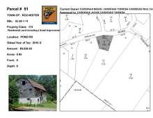 Town of Rochester - SBL: 52.20-1-11 - Pond Rd
