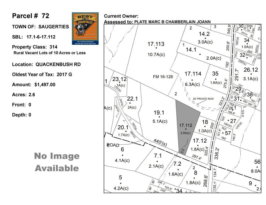 Town of Saug - SBL: 17.1-6-17.112 - Quakenbush Rd