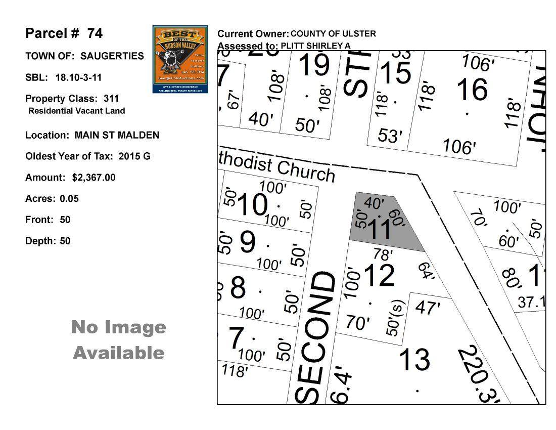 Town of Saug - SBL: 18.10-3-11 - Main St Malden