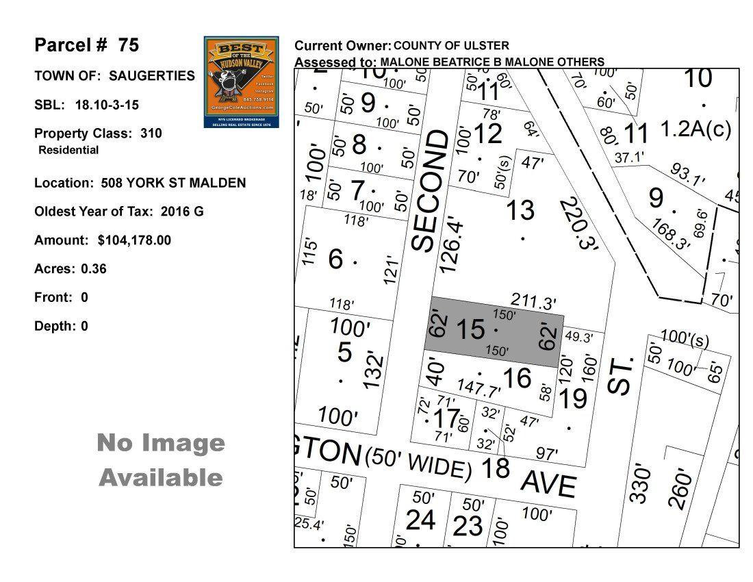 Town of Saug - SBL: 18.10-3-15 - 508 York St Malden
