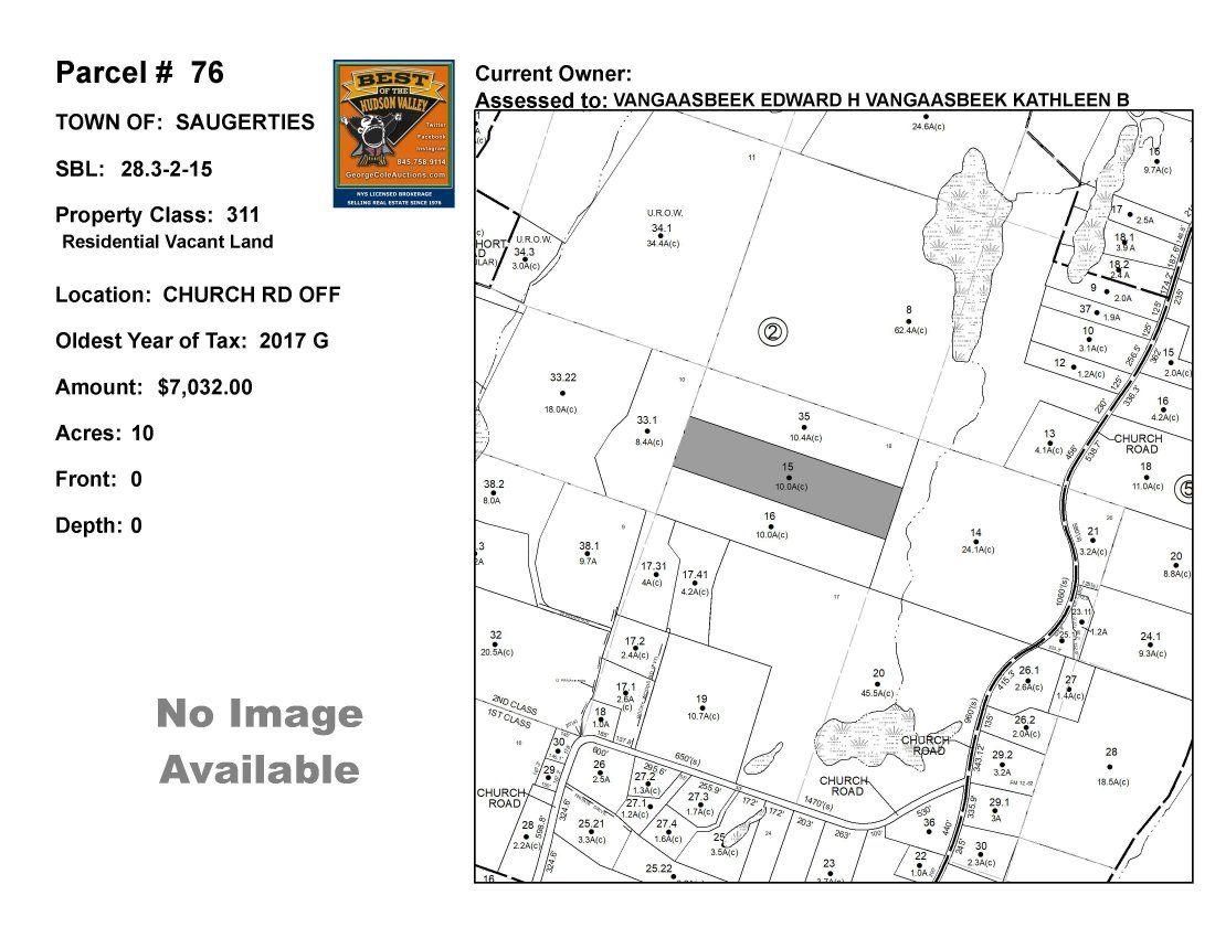 Town of Saug - SBL: 28.3-2-15 - Church Rd Off