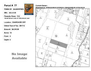 Town of Saug - SBL: 28.3-2-35 - Church Rd Off