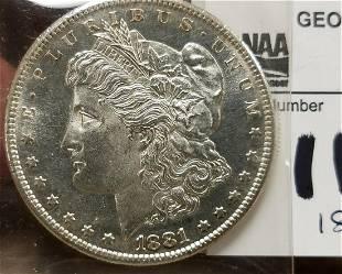 1881 S MORGAN SILVER $