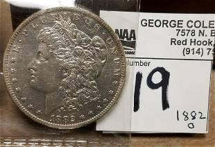 1882 O MORGAN SILVER $