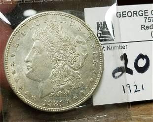 1921 MORGAN SILVER $