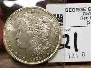 1921 D MORGAN SILVER $