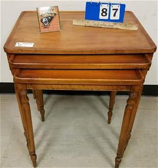 """BRANDT MAPLE NEST 3 TABLES, 24""""H X 24""""W X 18.5""""D"""