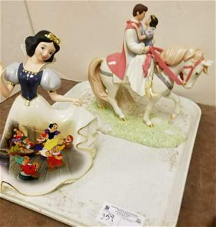 """TRAY HEIRLOOMS PORCELAIN SNOW WHITE FIGURE, 10.5"""" +"""