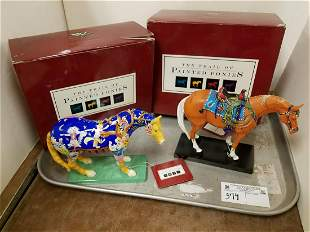 TRAY 2 PAINTED PONIES COLL-KITTY CAT'S BELL + HAPPY