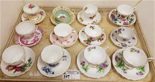 TRAY 12 CUPS/ SAUCERS