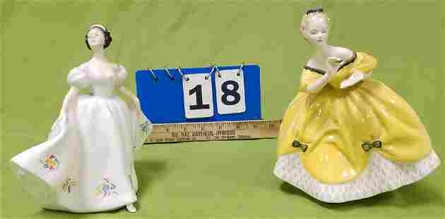 TRAY 2 ROYAL DOULTON FIGURINES KATE AND THE LAST WALTZ