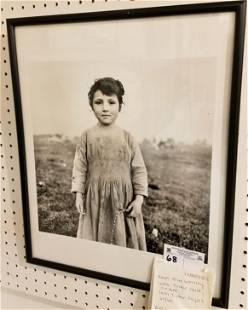 """FRAMED PHOTO """"LITTLE TINKER CHILD, IRELAND"""" 1965/66"""