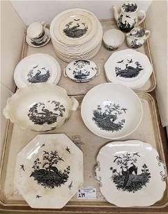 40 PC WEDGWOOD LIVERPOOL BIRDS, PARTIAL DINNER SERVICE