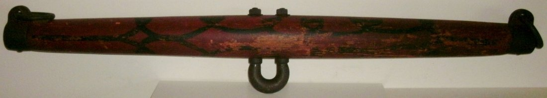 Antique Single Tree Goat Yoke Folky Orig Red Black Pnt