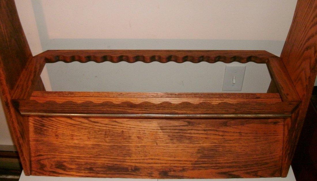 Vintage Solid Oak Penn Rods Fishing Rod Store Display - 5