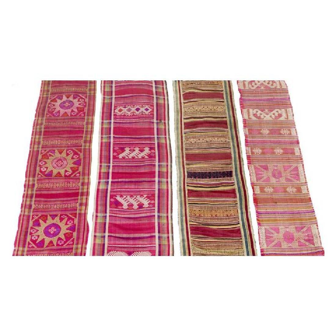 Set of Four Silk Textiles