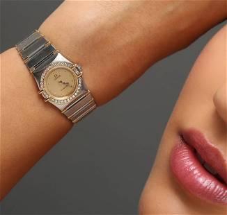Omega Two-Tone Diamond Constellation Wristwatch