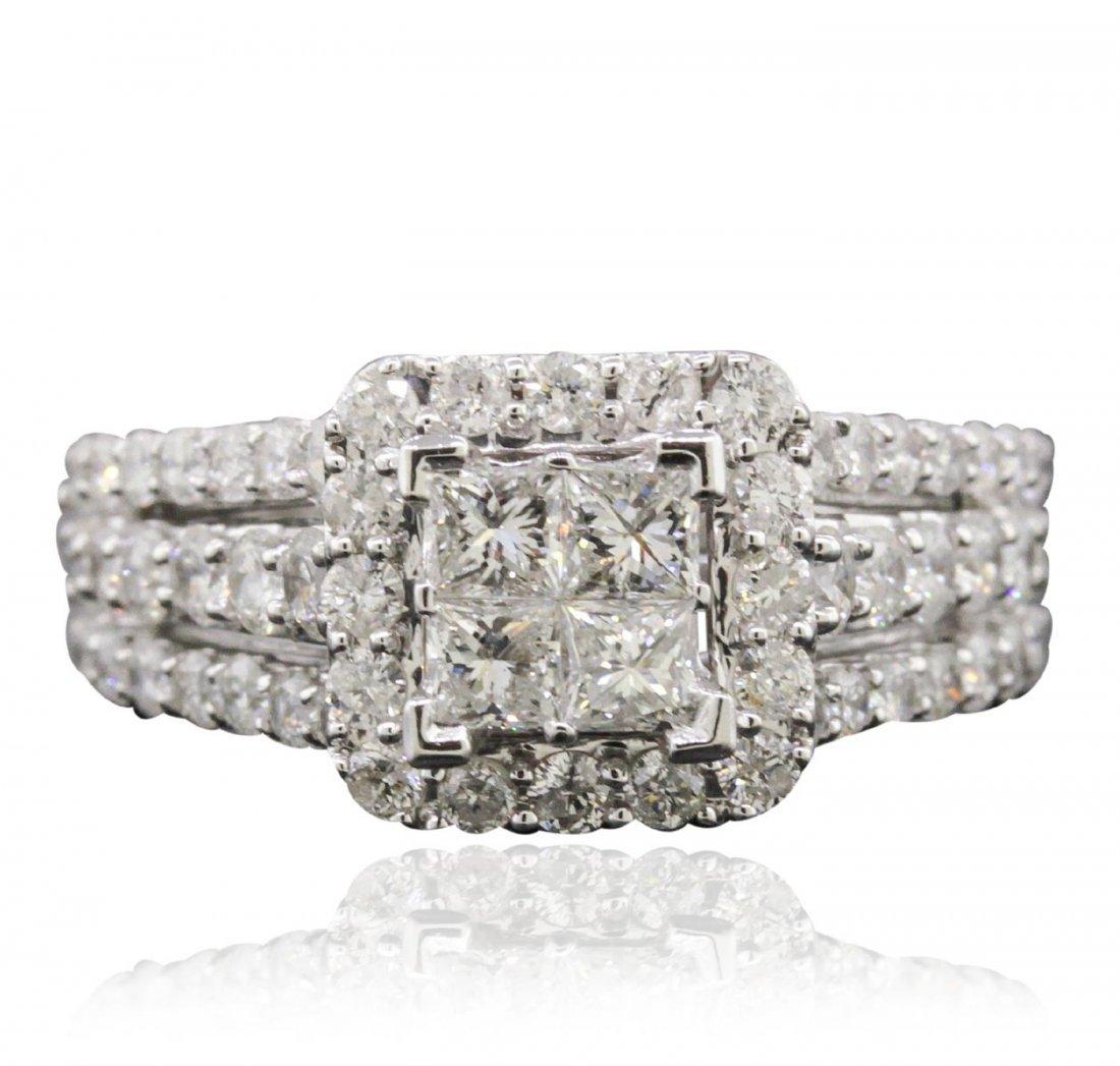14KT White Gold 1.71ctw Diamond Ring