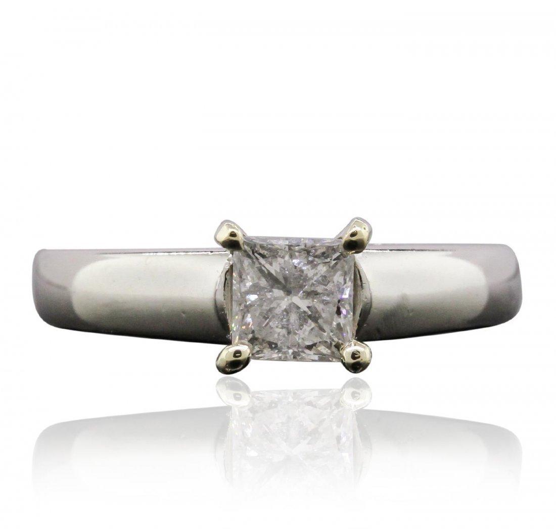 Platinum 0.70ct Diamond Ring