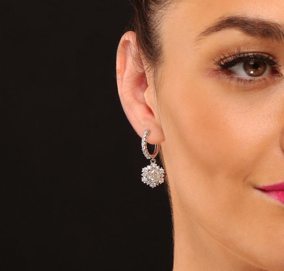 14KT White Gold 4.92ctw Diamond Earrings