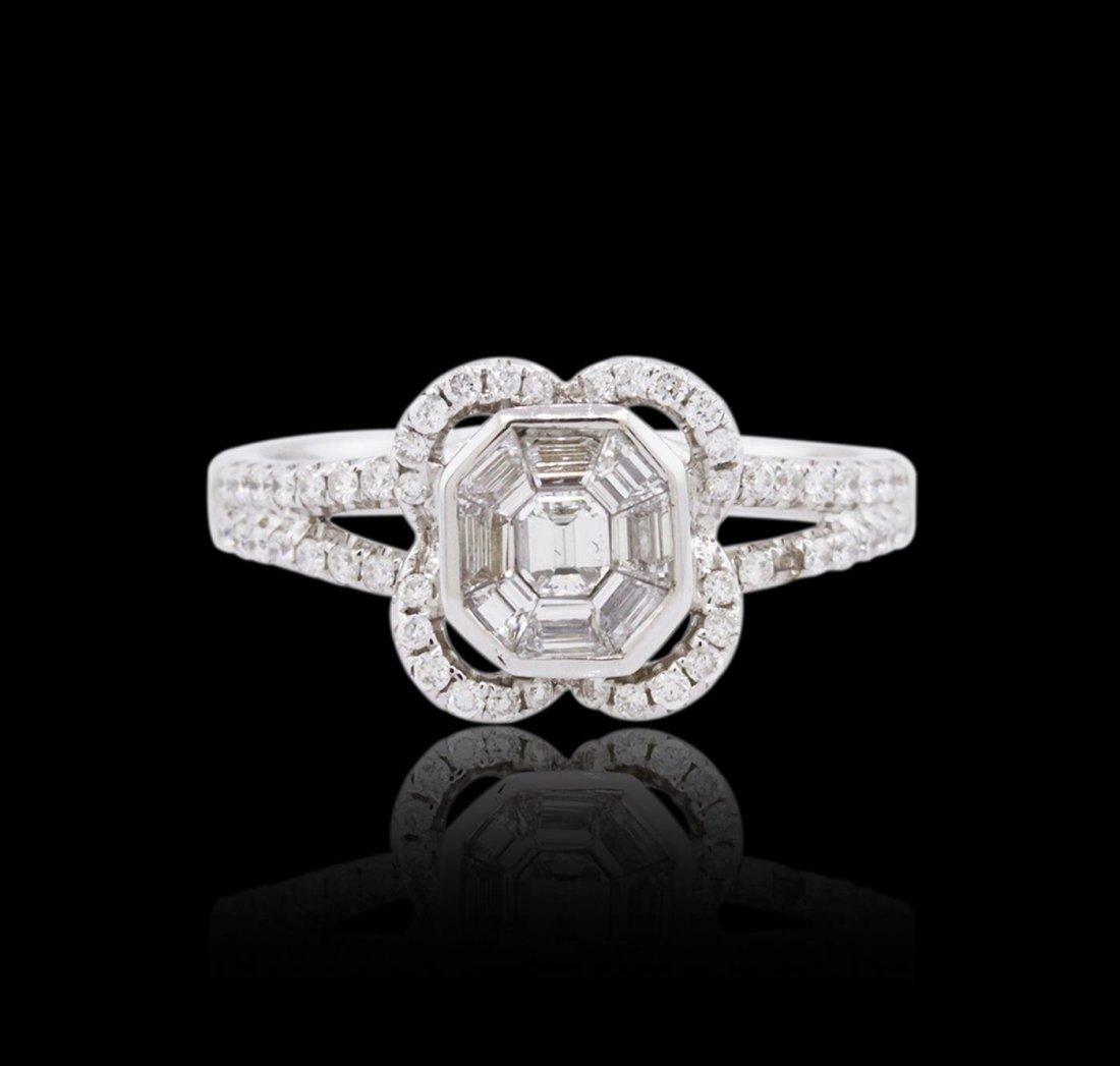 18KT White Gold 0.71ctw Diamond Ring