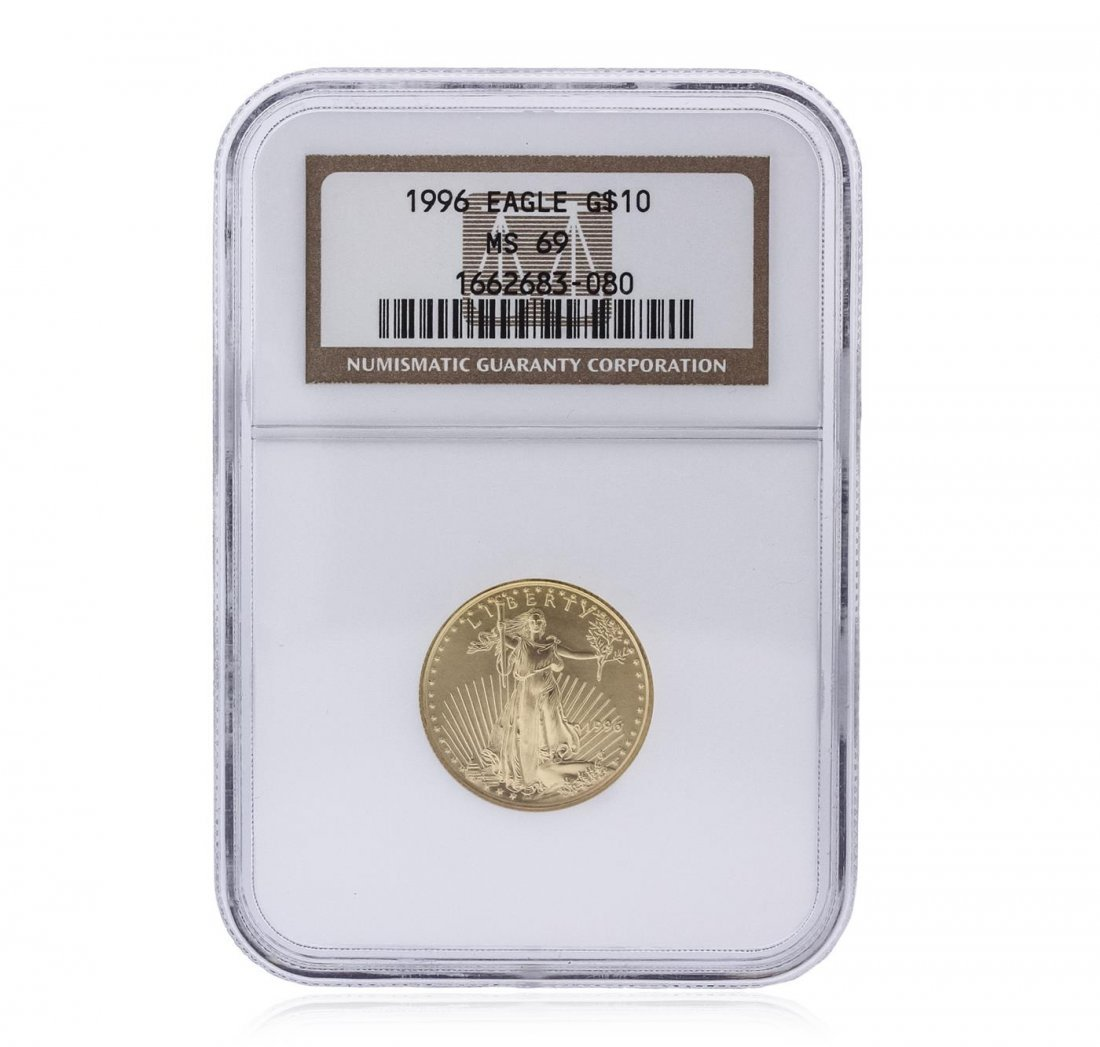 1996-W $10 American Gold Eagle 1/4 oz Gold Coin NGC