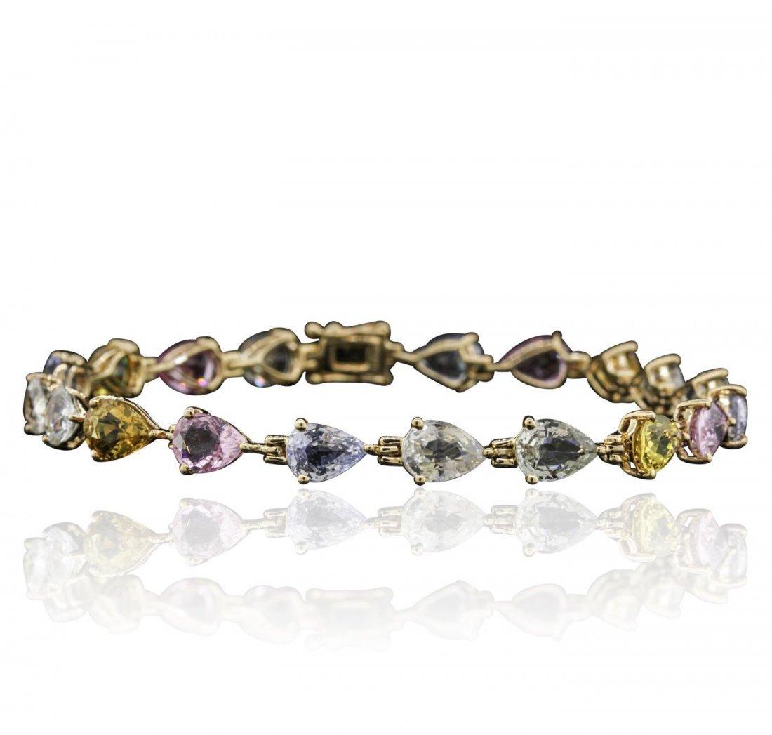 14KT Yellow Gold 16.08ctw Fancy Sapphire Bracelet