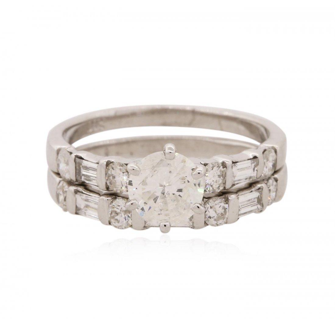 14KT White Gold 1.33ctw Diamond Ring Wedding Set