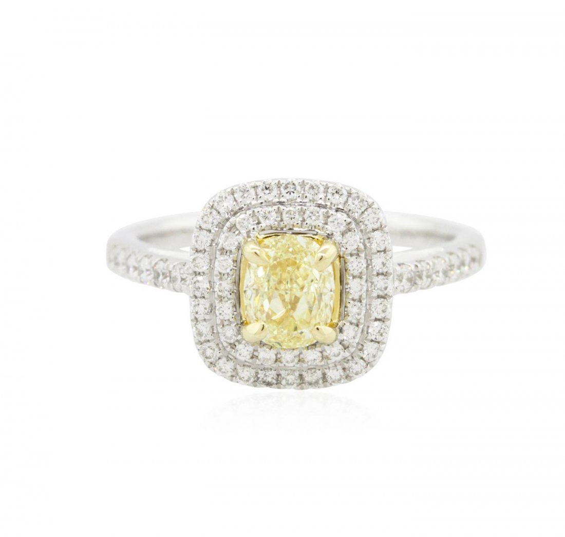 14KT Two-Tone Gold 1.28ctw Diamond Engagement Ring