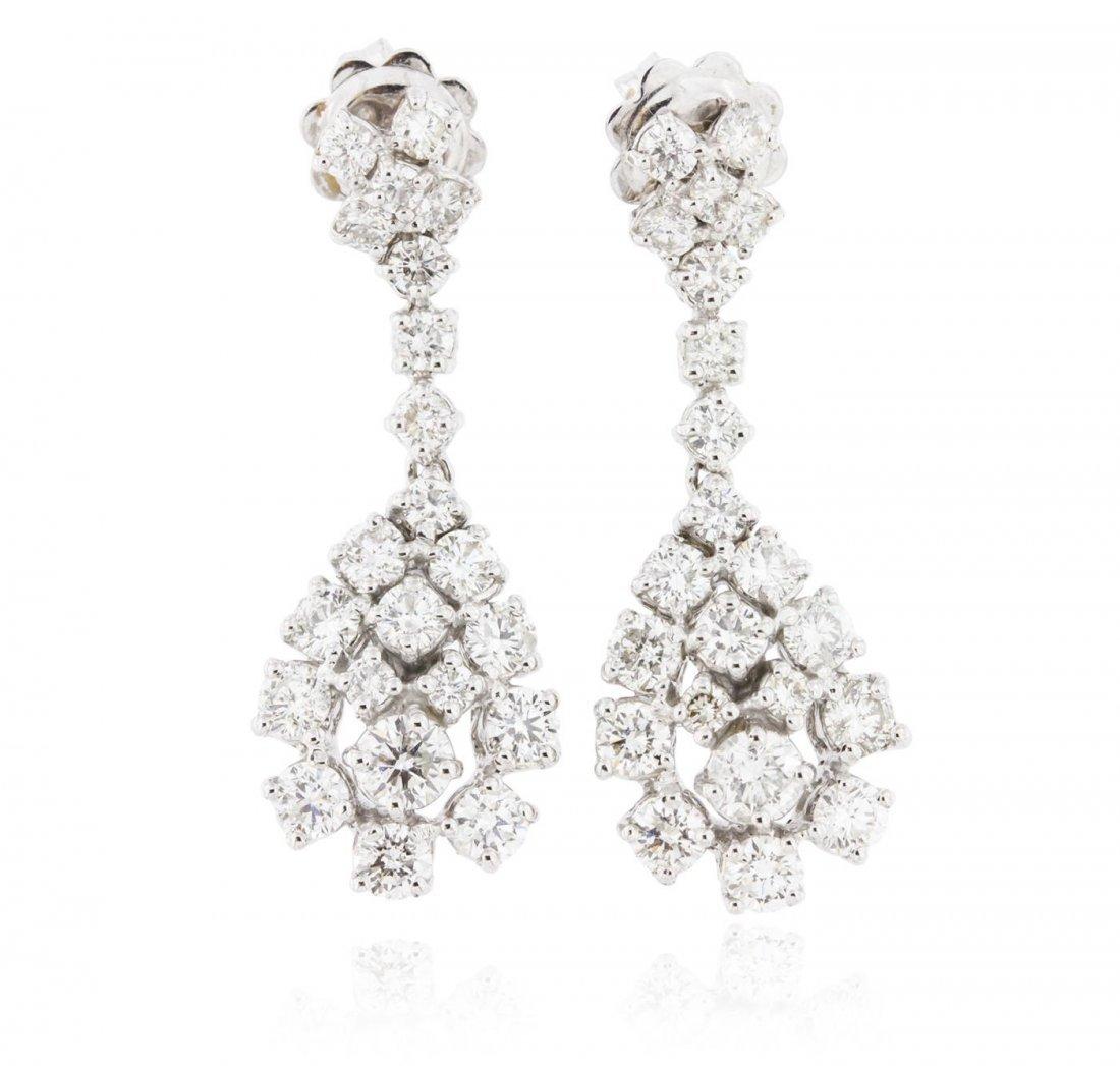 14KT White Gold 2.87 ctw Diamond Earrings